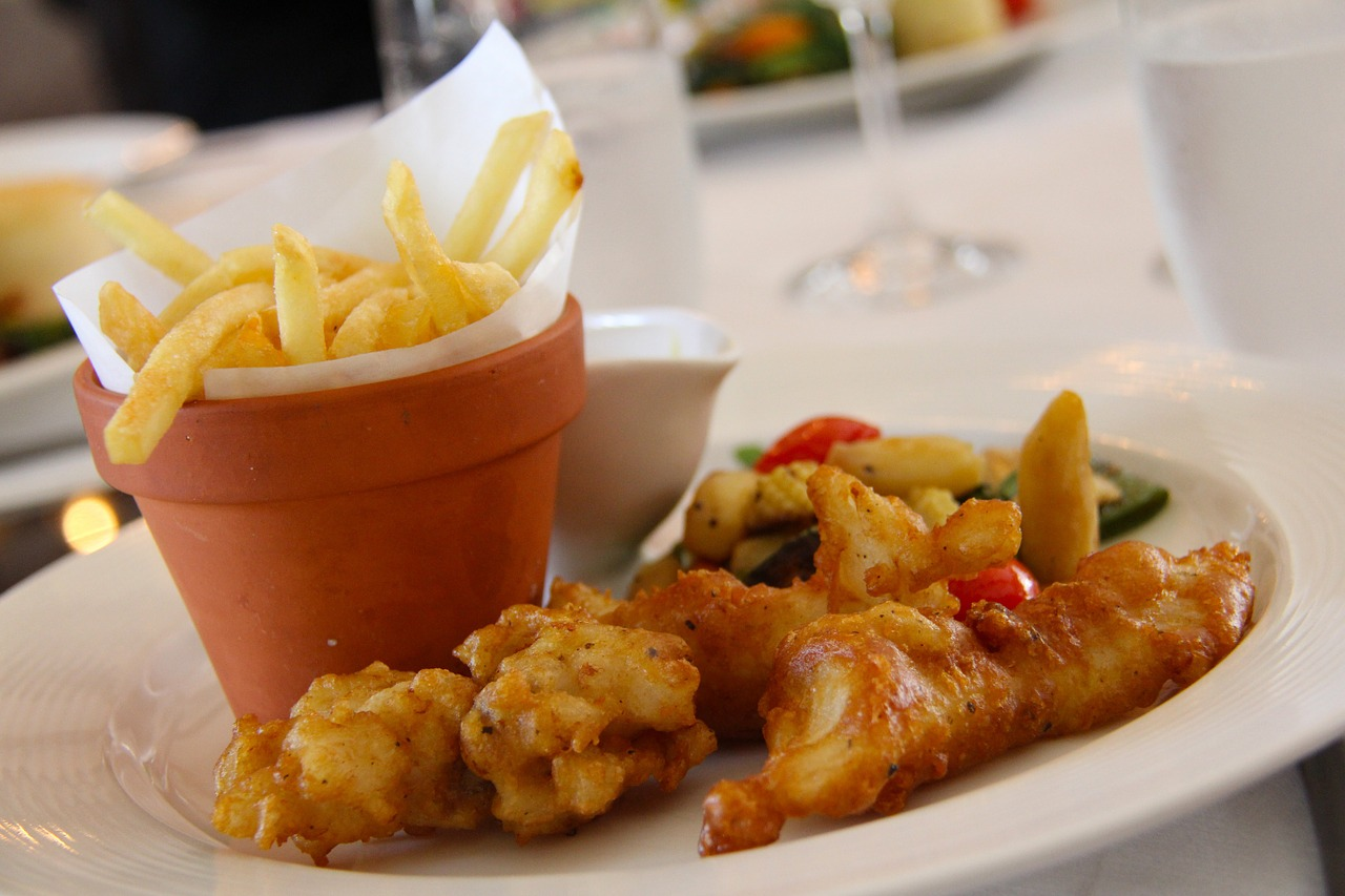 Plato de fish and chips
