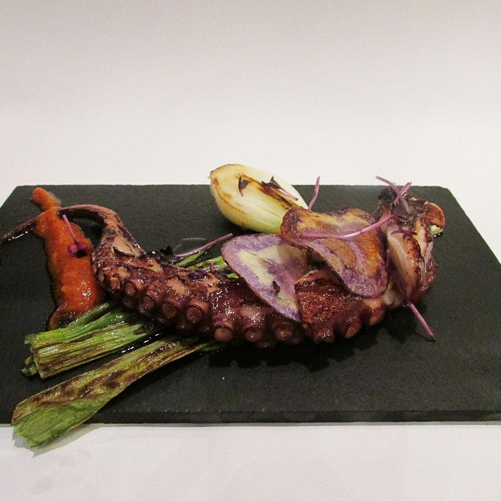 Terranova - Receta de pulpo a la brasa con patata morada