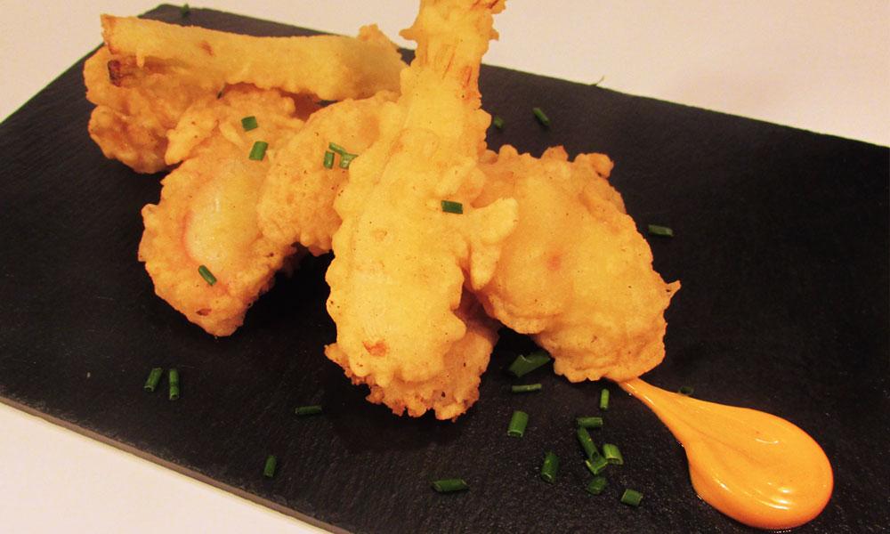 Terranova - Receta de rejos en tempura con cebolletas