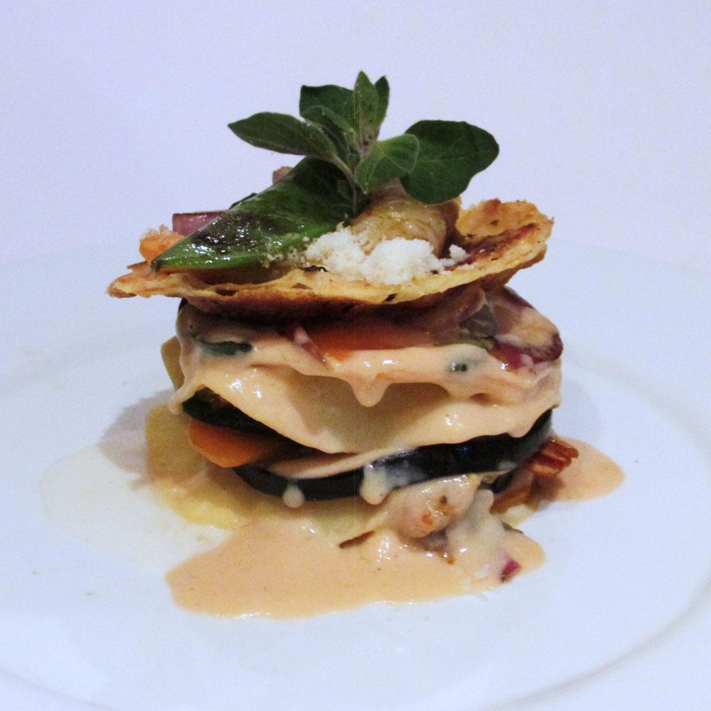 Terranova - Receta de lasagña de langostinos y verduras