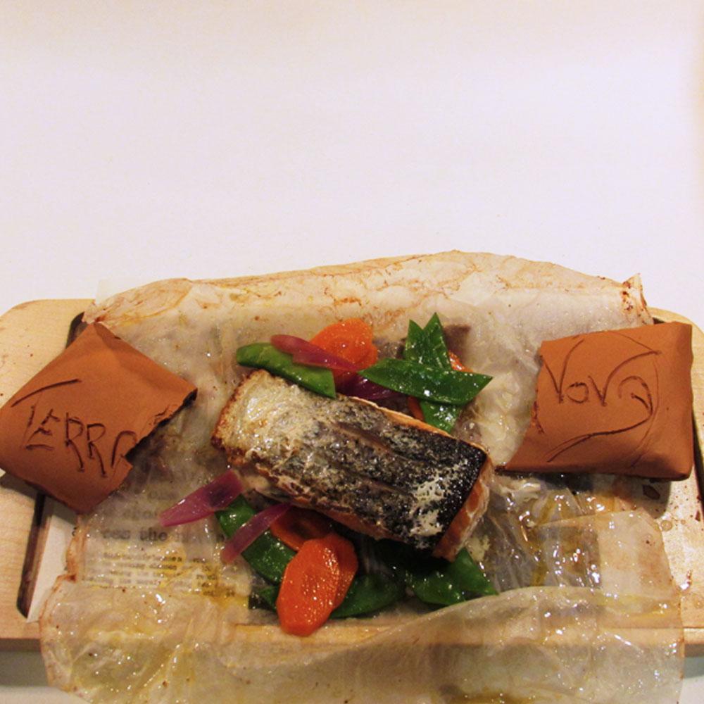 Terranova - Receta de salmón con langostinos
