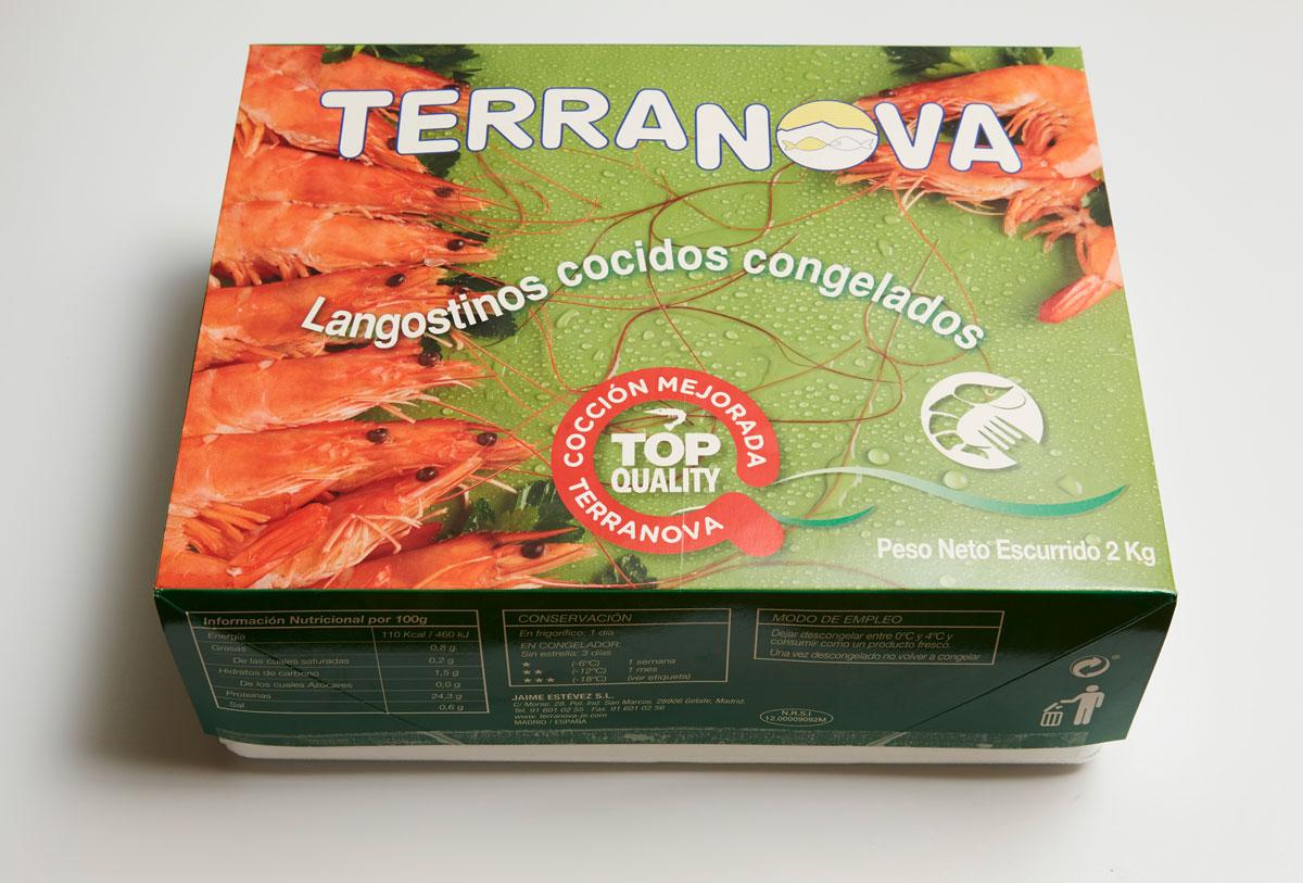 Terranova - Emballage de grosse crevette cuire congelé