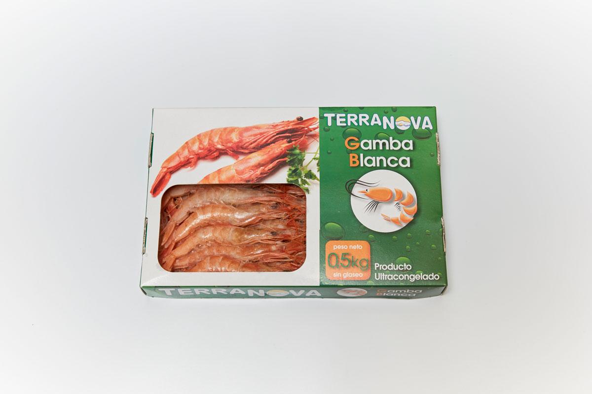 Terranova - Envase de gamba blanca congelada
