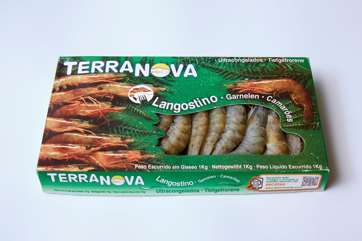 Terranova - Emballage de grosse crevette congelé