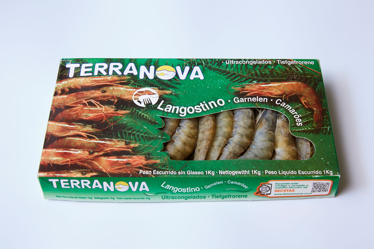 Terranova - Envase de langostinos congelados
