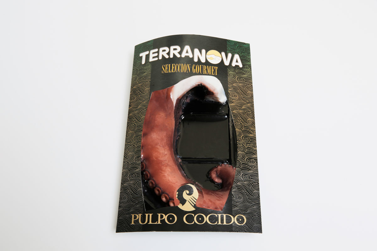 Terranova - Envase de pata de pulpo cocido gourmet