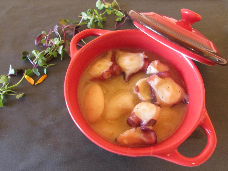 Receta de guiso de sepia y gambones